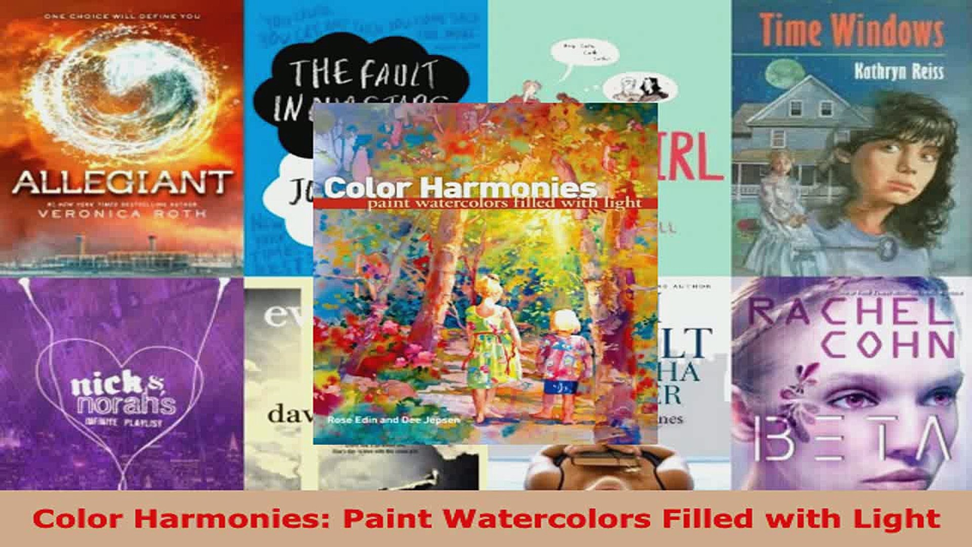 Paint Watercolors Filled with Light Color Harmonies