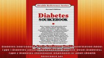 Diabetes Sourcebook Basic Consumer Health Information About Type 1 Diabetes