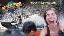 ITS A WET WORLD at UNIVERSAL STUDIOS!! DAY 3 - Waterworld, Jurassic Dino Play & Ben & Jer