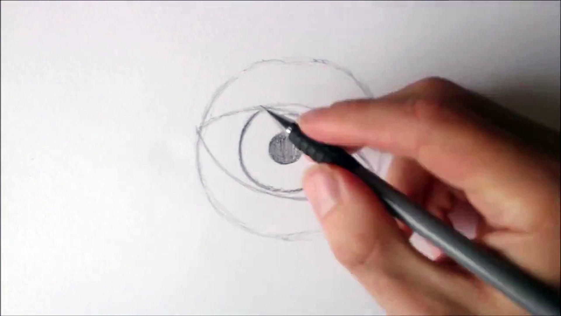 I Draw an EYE How To Draw An eye.