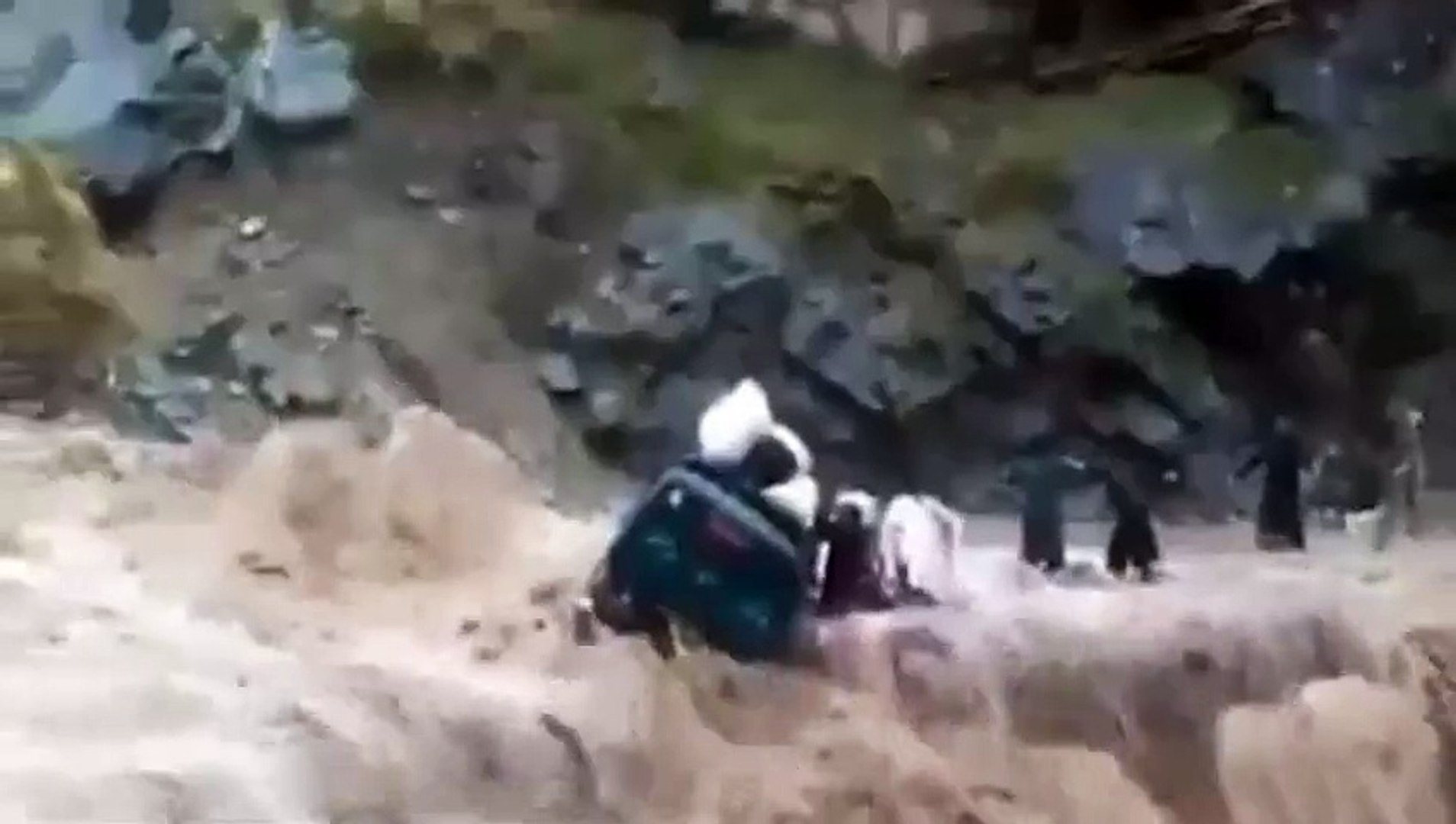 OMG flood in chitral,and watch this accident in flood allah O akbar