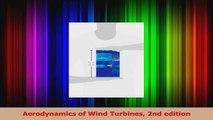 Download  Aerodynamics of Wind Turbines 2nd edition PDF Free
