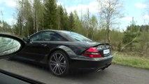 Mercedes SL65 AMG vs BMW M6 Coupe (V10 2005 model year)