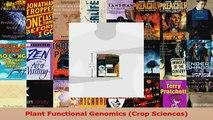 Plant Functional Genomics Crop Sciences PDF Online