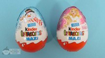 2 KINDER Surprise Maxi Eggs Christmas with My Little Pony and Peanuts Toys – 3S