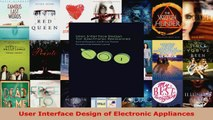 Download  User Interface Design of Electronic Appliances EBooks Online