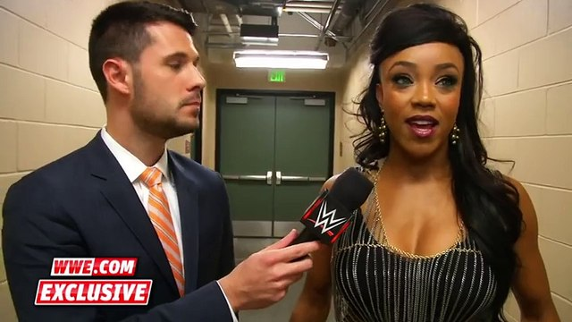 Alicia Fox reveals her new hairdo׃ Raw Fallout, Alicia Fox reveals her new hairdo׃ Raw Fallout, November 2, 2015