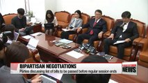 Parties discussing list of bills to be passed before regular session ends
