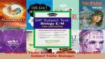Download  SAT Subject Tests Biology 20052006 Kaplan SAT Subject Tests Biology Ebook Free