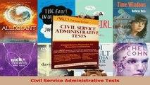 Download  Civil Service Administrative Tests PDF Free