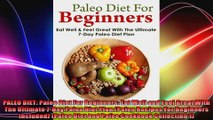 PALEO DIET Paleo Diet For Beginners Eat Well and Feel Great With The Ultimate 7Day