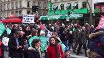 Marche pour la Vie contre l'euthanasie. Paris/France - 25 Janvier 2015