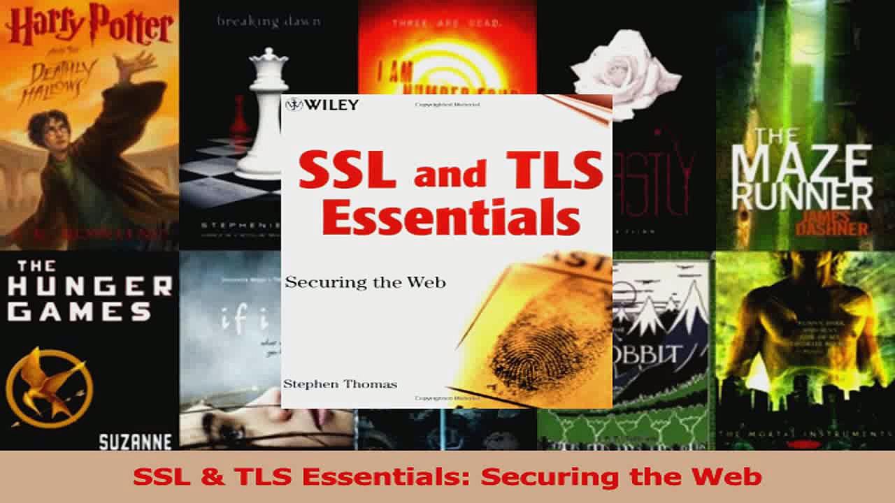 Download  SSL  TLS Essentials Securing the Web PDF Free