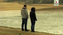 Sauzon - Les vagues en hiver plage de Donnant - TVBI Belle-Ile en mer 24/7