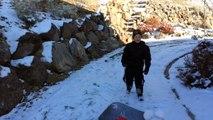 Sledding!! FUN! Snow ICE, KIDS and FUN!!