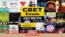 Read  CBET Exam Secrets Study Guide CBET Test Review for the Certified Biomedical Equipment Ebook Free