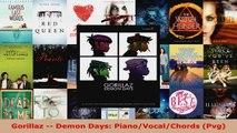 Read  Gorillaz  Demon Days PianoVocalChords Pvg EBooks Online