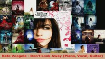 Download  Kate Voegele  Dont Look Away Piano Vocal Guitar EBooks Online