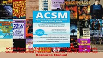 Read  ACSM Personal Trainer Certification Review Study Guide Certified Personal Trainer CPT PDF Free