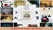 Read  Il barbiere di Siviglia Vocal Score Ebook Free