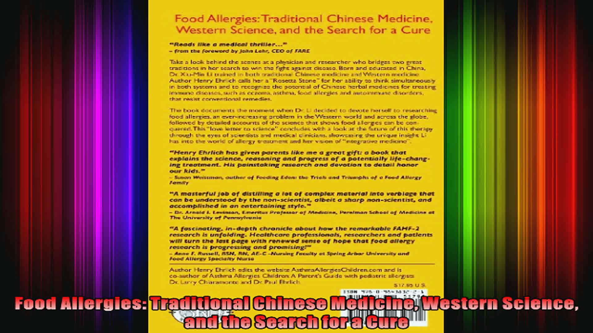 Food Allergies Traditional Chinese Medicine Western Science and the Search for a Cure