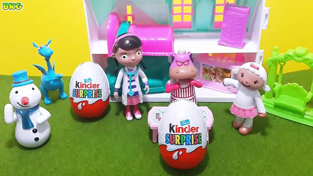 BIG DISNEY DOC MCSTUFFINS DIAGNOSIS CLINIC Toy + Kinder Surprise Eggs + Doc McStuffins Toy