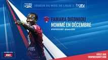 Ligue 2 / Trophées UNFP - Joueurs du mois : Famara Diedhiou
