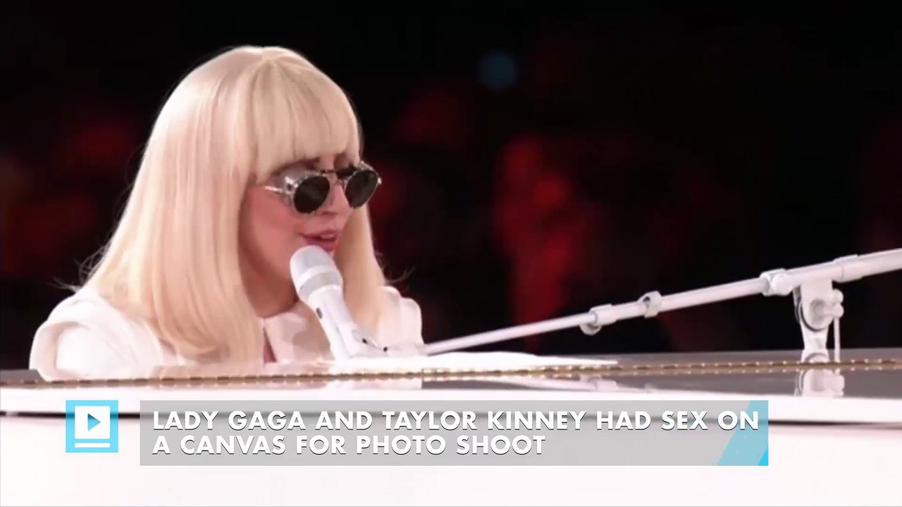 Lady Gaga and Taylor Kinney had sex on a canvas for photo