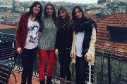 Sara Carbonero, anfitriona con sus amigas en Oporto