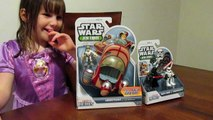 Star Wars Jedi Force Toys - Landspeeder, Luke Skywalker and Darth Vader Review and Unboxing!