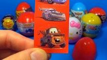18 Surprise eggs Kinder Surprise SpongeBob Disney PLANES Cars HELLO KITTY SPIDER-MAN TOY Story!