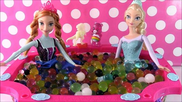 Frozen Princesses Anna and Elsa Orbeez Challenge Pool Party! Surprise Toys BLIND BAGS! Shopkins