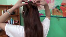 hairstyles tutorial - plaited hair, pretty chignon hairstyle cute, simple for school outings to the party office - hair styles for back to school colleg