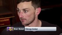 Blair Walsh on Missed FG: 'It's My Fault' | Seahawks vs. Vikings | NFL (FULL HD)