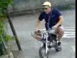 poket bike in the street