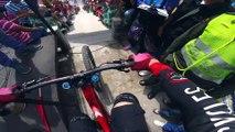 Course VTT de descente MTB Urban downhill en Colombie en Caméra embarquée... Flippant