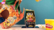 Play Doh Spongebob Squarepants Silly Faces Playset Mold a Sponge Nickelodeon playdough Bob