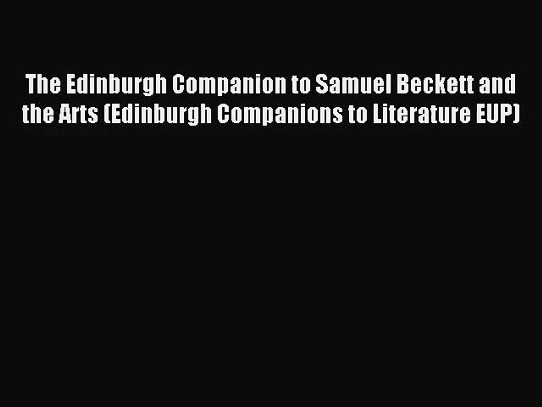 The Cambridge Companion to Beckett (Cambridge Companions to Literature)