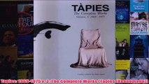 Tapies 19691975 v 3 The Complete Works Tapies Koenemann