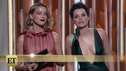 Awkward! Teleprompter Failed for Amber Heard and Jaimie Alexander at the Golden Globes
