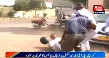 Karachi: Traffic Police Torture on Shafiq at PIDC Signal