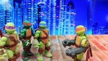 Ninja Turtles Mutations Michelangelo Steals Rocksteady Arms and Fights Raphael Metal Head and Bebop