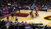 LeBron James and Damian Lillard Square Off in Cleveland