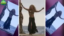 Shakira Brings Her Son To Her Belly Dancing Beach Shoot