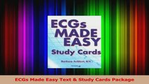 ECGs Made Easy Text  Study Cards Package Read Online