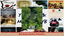 Read  Green Plastics An Introduction to the New Science of Biodegradable Plastics Ebook Free