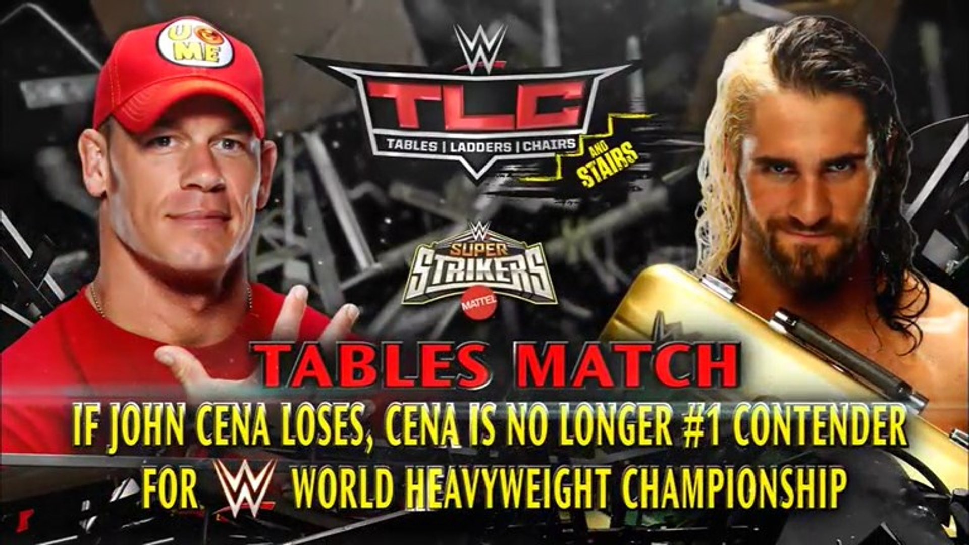 John Cena vs  Seth Rollins – Tables Match: TLC and Stairs, December 14, 2014