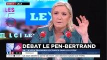 """Le Pen à Bertrand: """"Vous touchez 10 balles à chaque fois que vous dites extrême droite?"""" Non, mais ce n'est pas gratuit"""