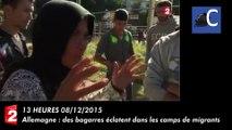 Allemagne : des bagarres éclatent dans les camps de migrants