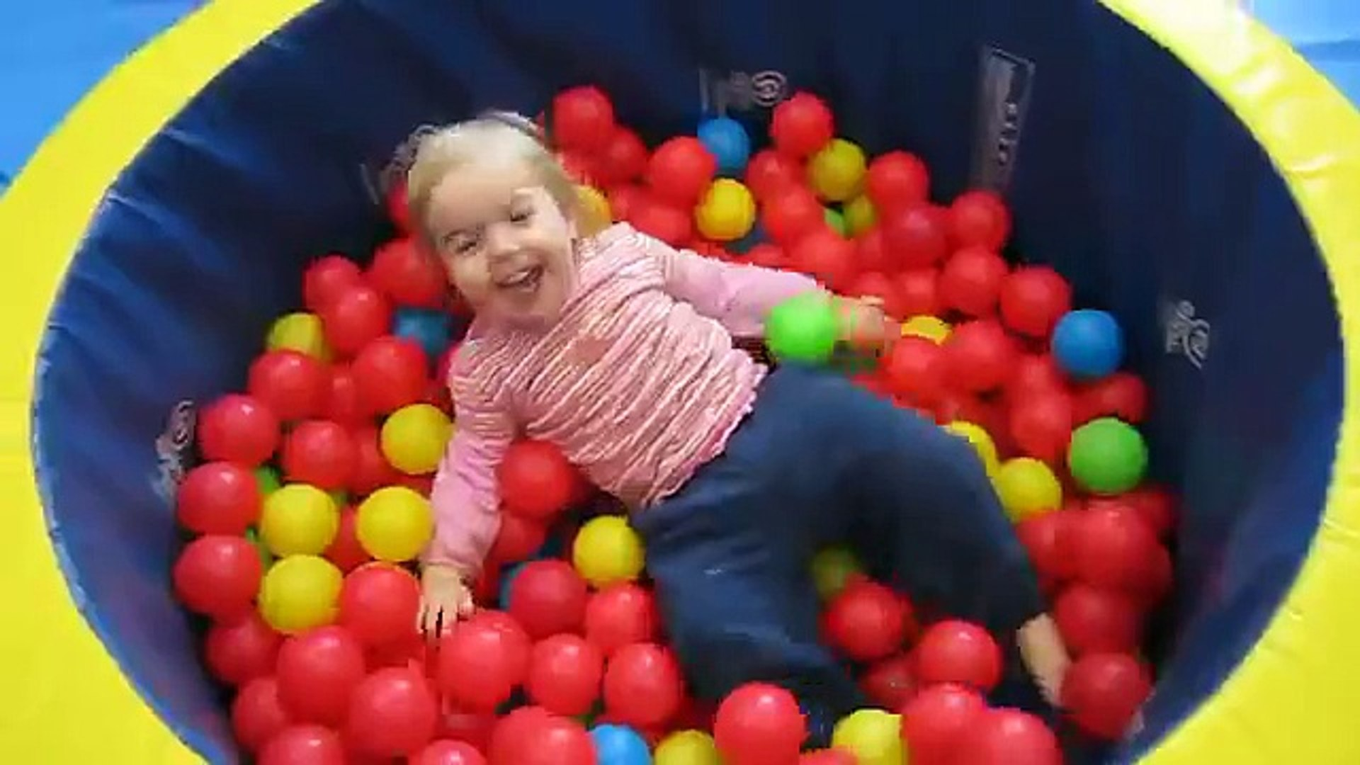 Kids playing in ball pit